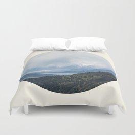 Mountain Valley Lake Duvet Cover