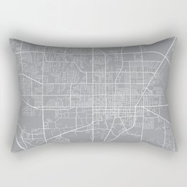 Gainesville Map, Florida USA - Pewter Rectangular Pillow