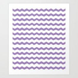 Purple Zigzag Pattern Art Print