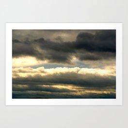 a break in the clouds Art Print