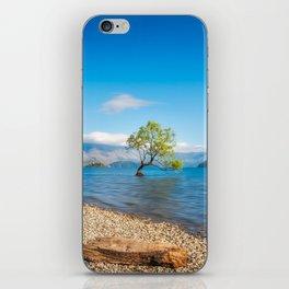 Clear blue morning at Lake Wanaka, New Zealand iPhone Skin