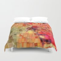 butterfly Duvet Covers featuring Butterfly   by Aloke Design
