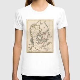 Vintage Map of Denmark (1815) T-shirt