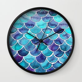 Scales blue palette Wall Clock