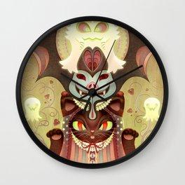 Trick-or-Treat Totem Wall Clock