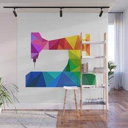 Geometric Sewing Machine Wall Mural