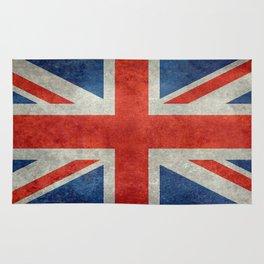 Union Jack flag, grungy retro 1:2 scale Rug