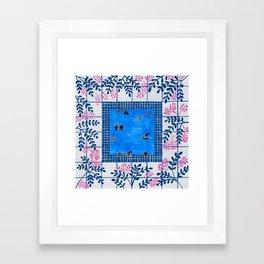 Sorrento Poolside Framed Art Print