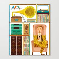 records Canvas Prints featuring 50 Records by Goncalo Viana