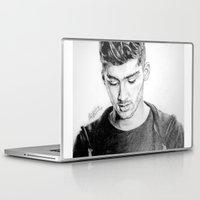 zayn malik Laptop & iPad Skins featuring Zayn by Drawpassionn