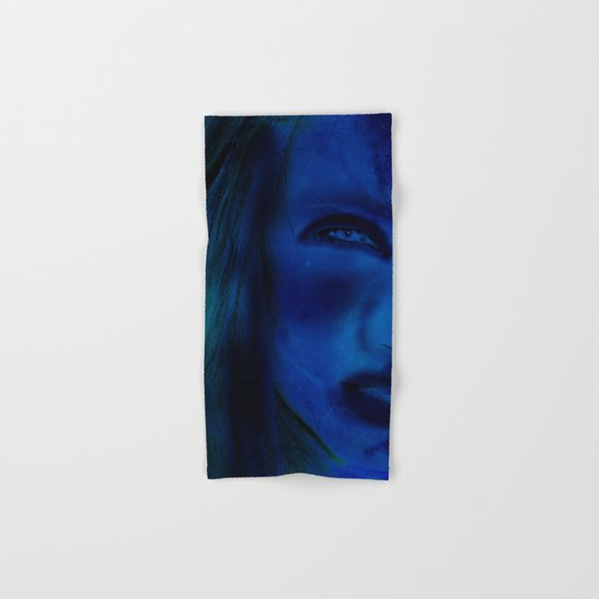 Blue Woman Hand & Bath Towel
