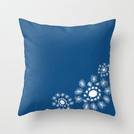 Fine and Dandy - Classic Blue Throw Pillow