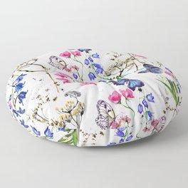 Wild Flowers Field Floor Pillow