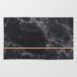 BLACK MARBLE GOLD STRIPE Rug