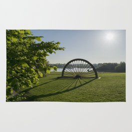 Manvers Lake Pit Head Winding Wheel Rug