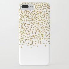 Gold Confetti Sparkle and Shine Slim Case iPhone 7 Plus