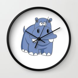 Hippo Po Wall Clock