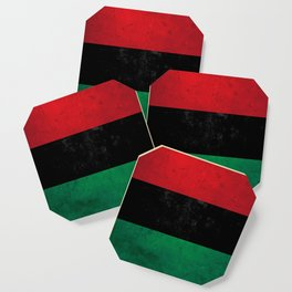 Distressed Afro-American / Pan-African / UNIA flag Coaster