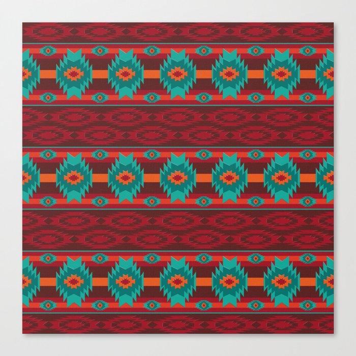 Southwestern navajo tribal pattern. Leinwanddruck