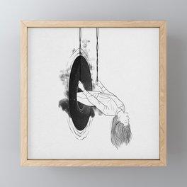 Running from it all. Framed Mini Art Print