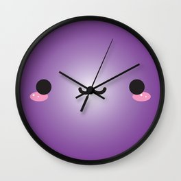 Kawaii Face (Purple) Wall Clock