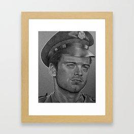 Sergeant Barnes Framed Art Print