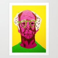 larry david Art Prints featuring Larry David 3 by Alyssa Underwood Contemporary Art