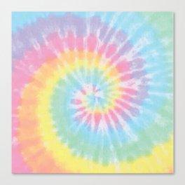 Pastel Tie Dye Canvas Print