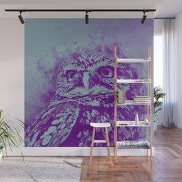 owl portrait 5 wspb Wall Mural