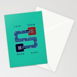 Save Your Work Stationery Cards