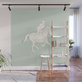 Eventing in green Wall Mural