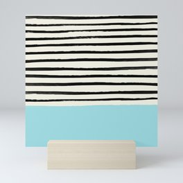 Sky Blue x Stripes Mini Art Print
