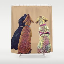 Three Amigos I in tan Shower Curtain