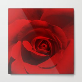 Red Rose | Be Mine Valentine | Love Metal Print