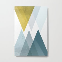 TRIANGLES ABSTRACT Metal Print