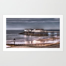 Cromer Pier and reflection Art Print