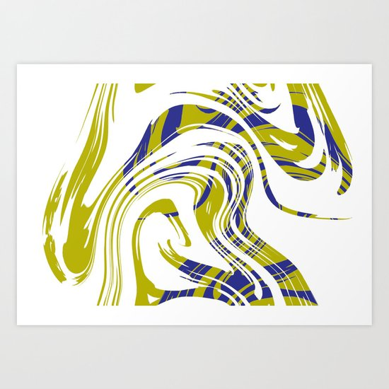 Move No.3 Digital Art  Art Print