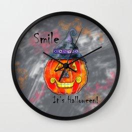 Happy Smiling Halloween! Wall Clock