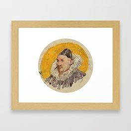 ANKER, ALBERT (1831 Ins 1910)   Portrait of a man with ruff. Framed Art Print