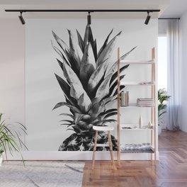 Pineapple Black & White Dream #1 #tropical #fruit #decor #art #society6 Wall Mural
