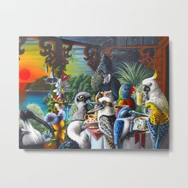 Chit-Chat On The Island Metal Print