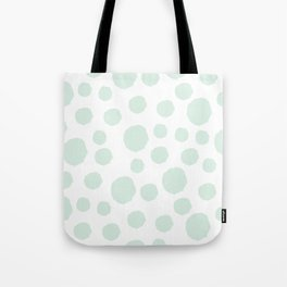Mint Polka Art Tote Bag