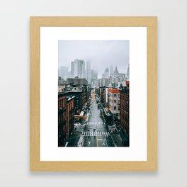 New York City - Manhattan Framed Art Print