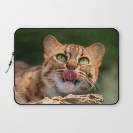 RUSTY SPOTTED CAT LICK Laptop Sleeve