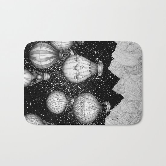 Night Flight Bath Mat