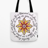 miles davis Tote Bags featuring miles away by Let's Chalk