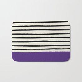 Purple Grape x Stripes Bath Mat