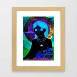 Summer Night Goddess Framed Art Print