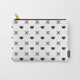 Pixel Skull Pirate Black Carry-All Pouch