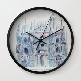 the castle in the clouds Wall Clock